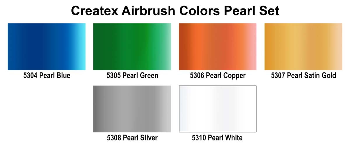 Createx Airbrush Colors Pearlized Set of 6