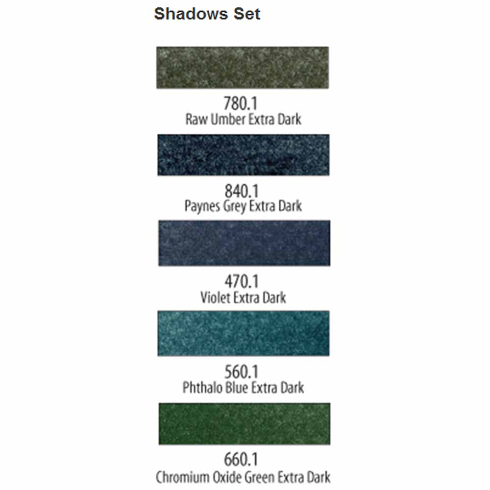 PanPastel Extra Dark Shadows Set of 5