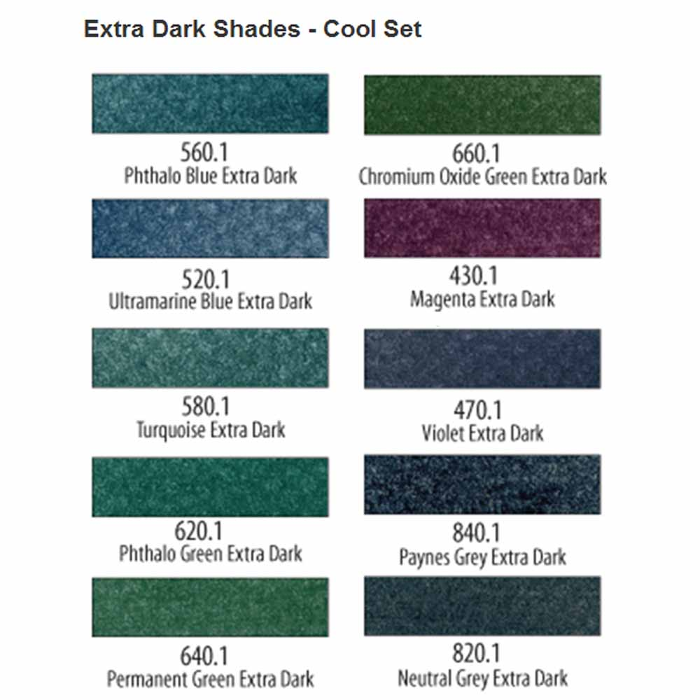 PanPastel Extra Dark Cool Shades Set of 10