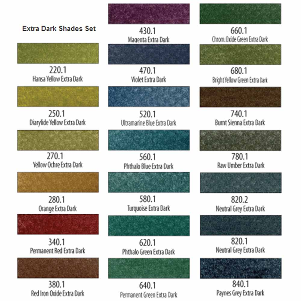 PanPastel Extra Dark Shades Set of 20
