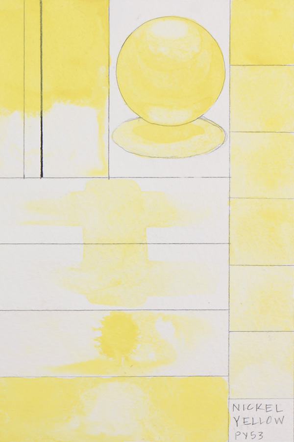 QoR Watercolor Nickel Yellow